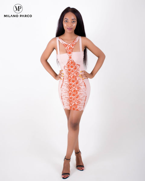 Oh Darling Bandage Dress | Peach
