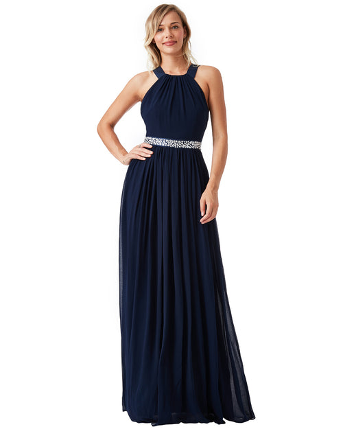 XBack Chiffon Maxi Dress | Navy