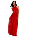 XBack Chiffon Maxi Dress | Red