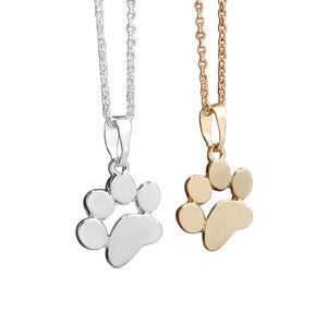 Dog Footprints Paw Chain Necklace