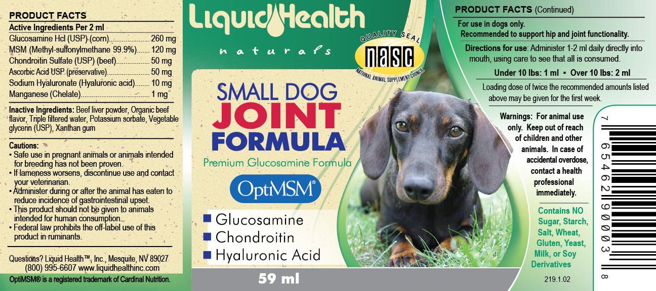 Small Dog Glucosamine Joint Formula 2oz.