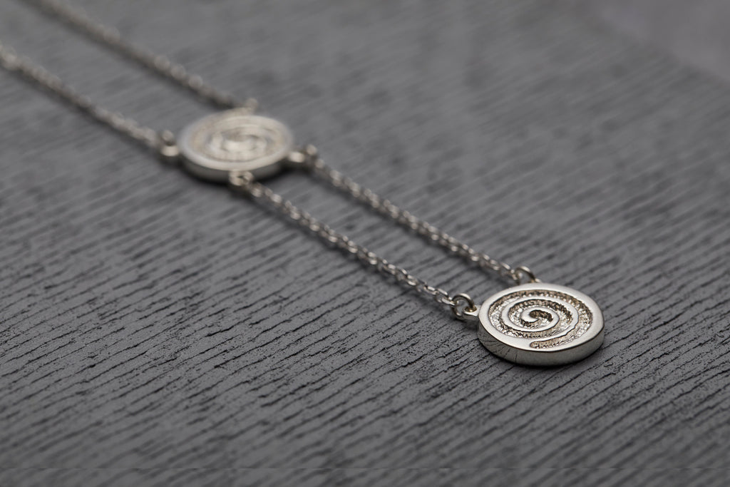 Celtic Spiral necklace meaning Energy Native collection by Liwu Jewellery