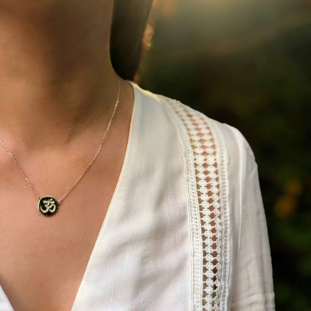 om chant symbol necklace