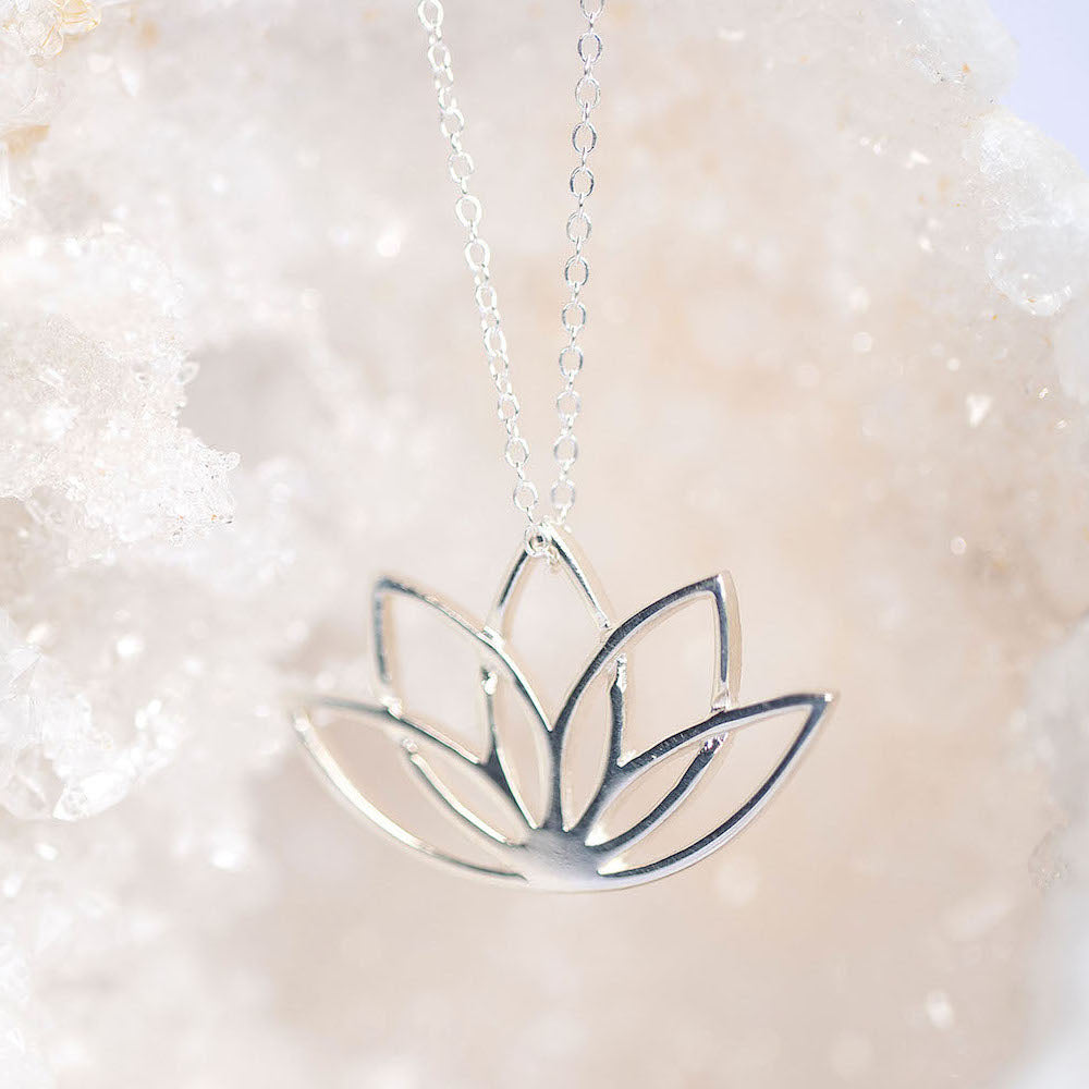 lotus flower necklace | Symbol Jewellery | Made in Ireland