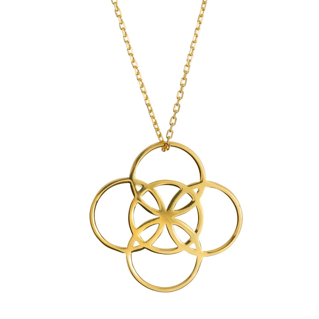 SERENITY SOLID GOLD NECKLACE (Symbolising Serenity and Balance)