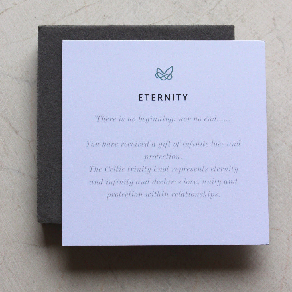 ETERNITY SOLID GOLD NECKLACE (Symbolising Love and Protection)