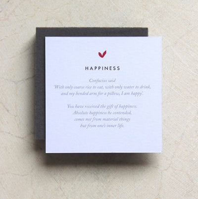 HAPPINESS SILVER NECKLACE