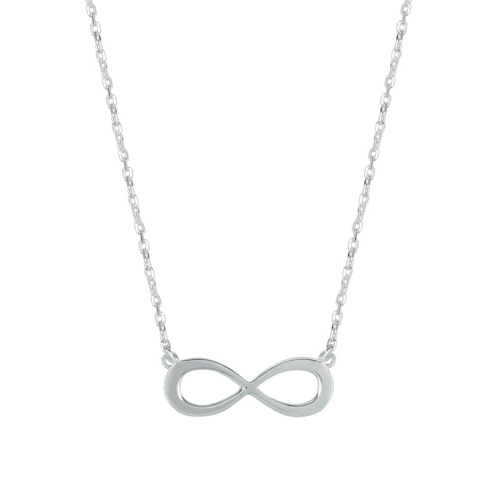 Silver Infinity Necklace by Liwu Jewellery