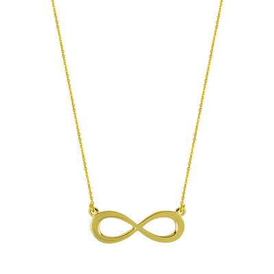 INFINITY SOLID GOLD NECKLACE