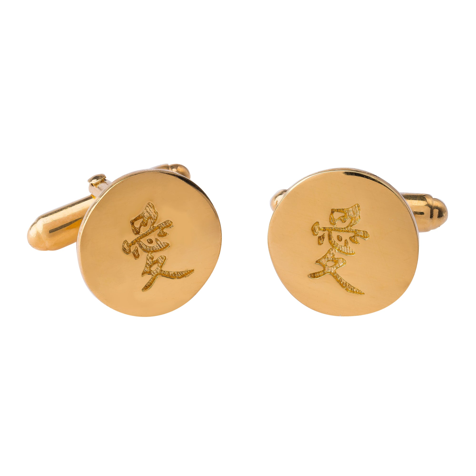 LOVE GOLD CUFFLINKS (Symbolising Love)