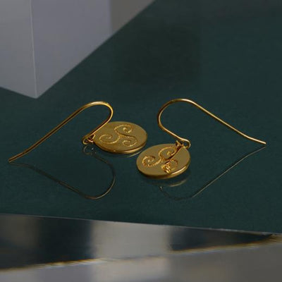 PROGRESS GOLD CELTIC EARRINGS