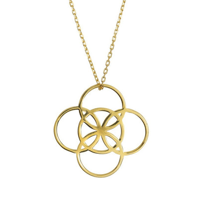 serenity symbol necklace in gold