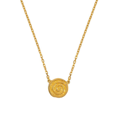 ENERGY SINGLE CELTIC SPIRAL GOLD NECKLACE (Symbolising Energy, Life, Birth, Spirit)