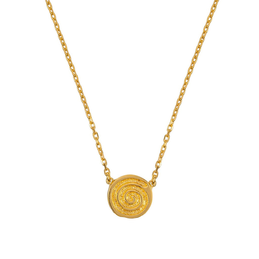 ENERGY SINGLE CELTIC SPIRAL GOLD NECKLACE