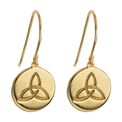 small drop celtic knot earrings in gold