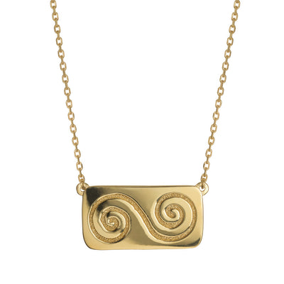 double spiral necklace meaning growth by liwu jewellery