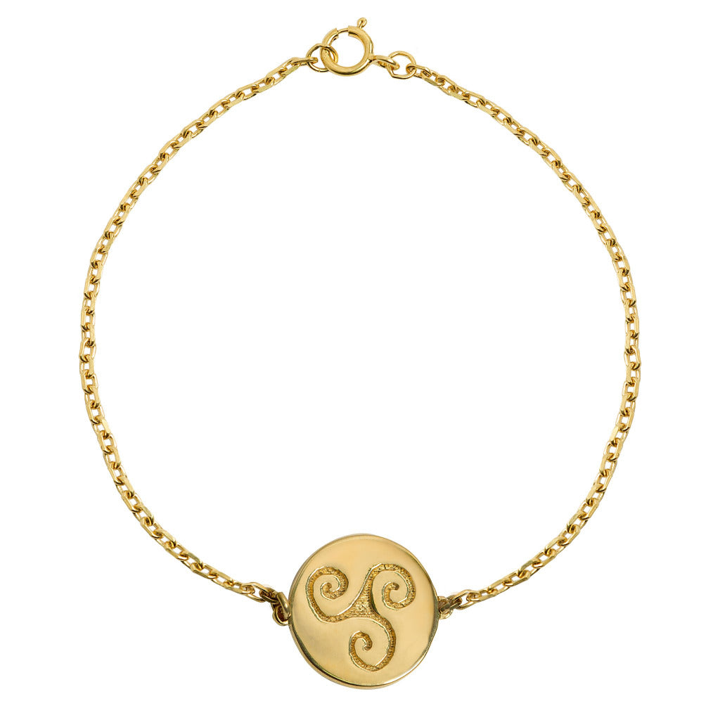 PROGRESS GOLD CELTIC BRACELET (Symbolising Progression, Intuition and Creativity)