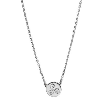 PROGRESS SILVER CELTIC NECKLACE (Symbolising Progresson, creativity and intuition)
