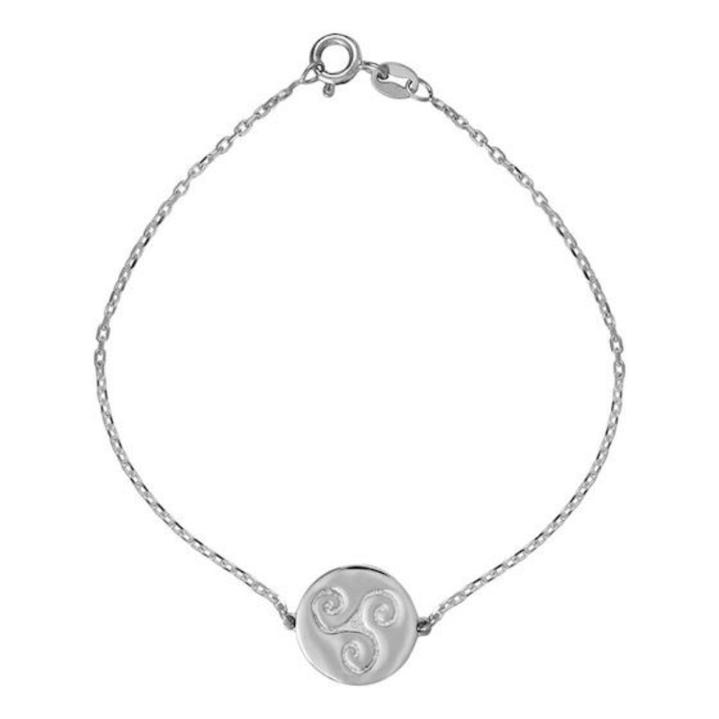 PROGRESS SILVER CELTIC BRACELET (Symbolising Progression, Creativity and Intuition)