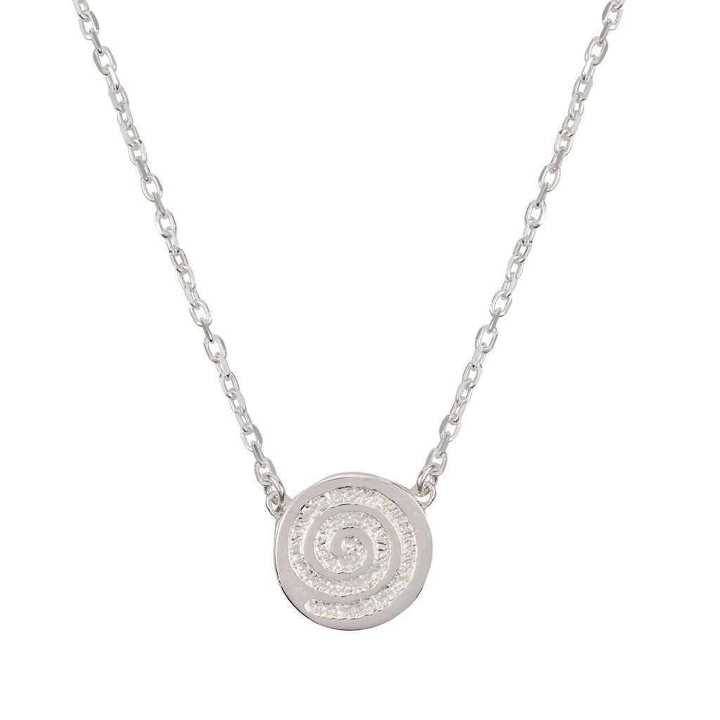 ENERGY SINGLE CELTIC SPIRAL NECKLACE 1 DISC (Symbolising Energy and Life)