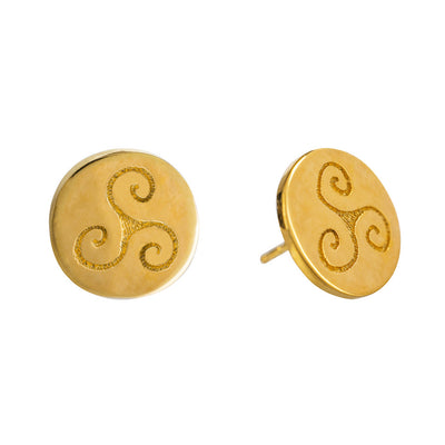 PROGRESS STUD GOLD CELTIC EARRINGS