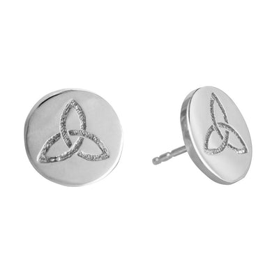 ETERNITY STUD SILVER CELTIC EARRINGS
