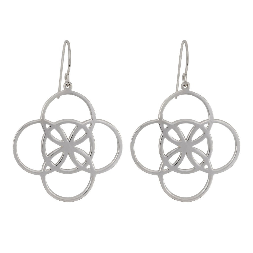 statement celtic earrings meaning serenity by Irish jewelry brand liwu jewellery