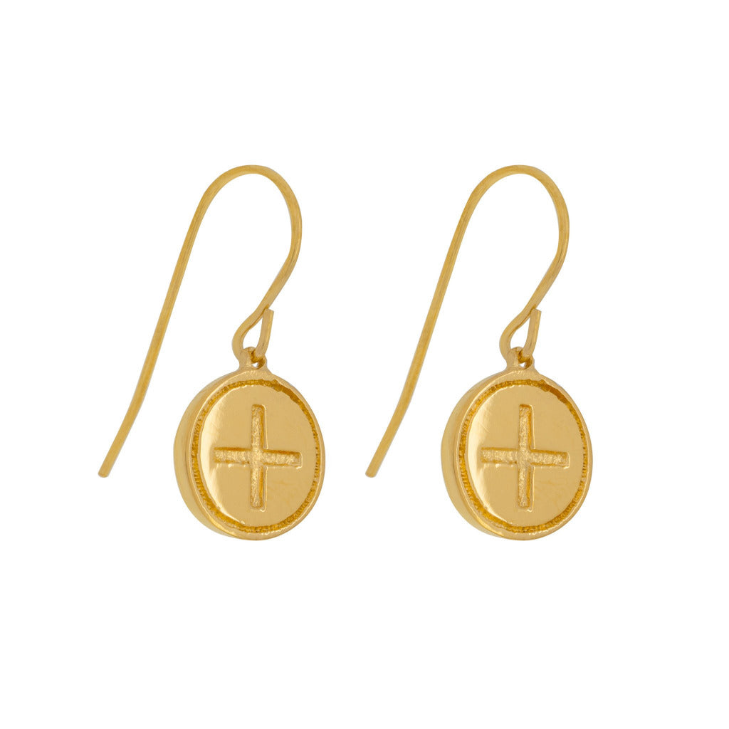 WELLBEING GOLD CELTIC EARRINGS (Symbolising Strength and Balanced Soul)