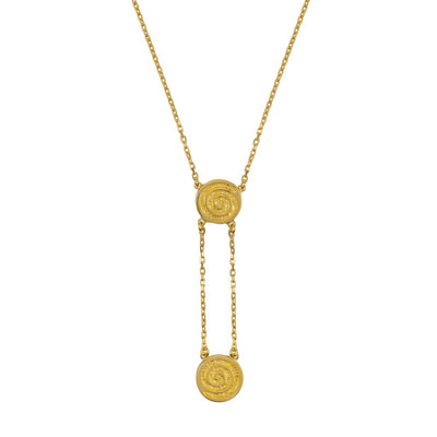 celtic spiral necklace in gold by liwu jewellery meaning energy