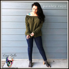 Paisley Raye Willow- Sexy fall top you can purchase at Ciao Bella Boutique in Virginia Beach www.darksidefashion.com