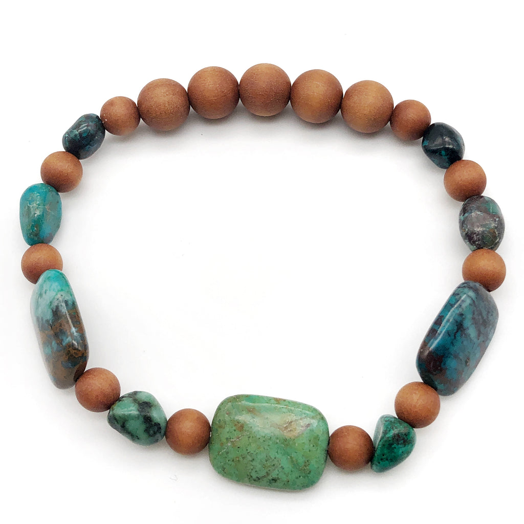 Starting New, Chrysocolla Stretch Bracelet