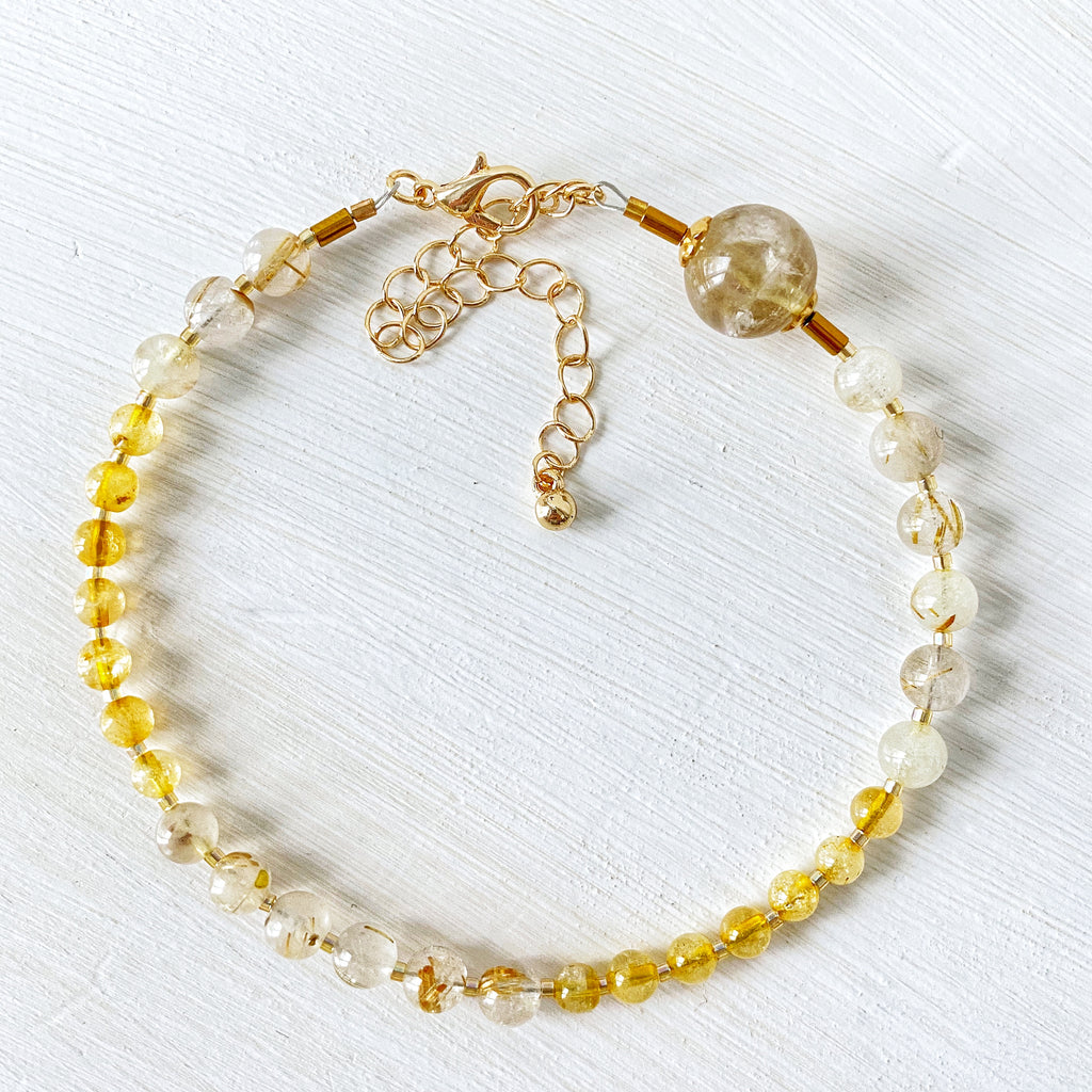 Golden Citrine Anklet