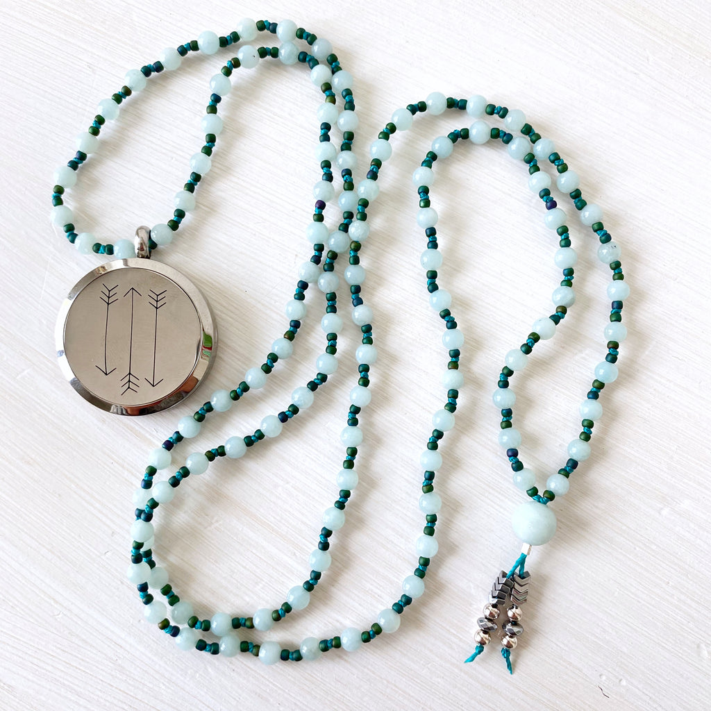 Amazonite Arrow Diffuser Mala