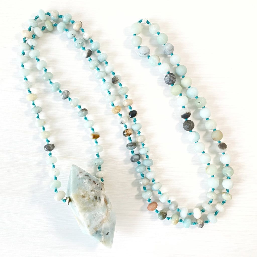 Giant Amazonite Point Mala