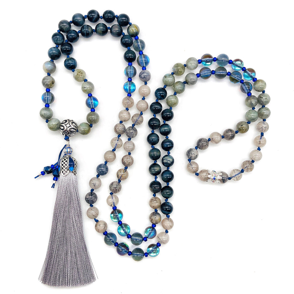 Blues 'N Tassel Mala
