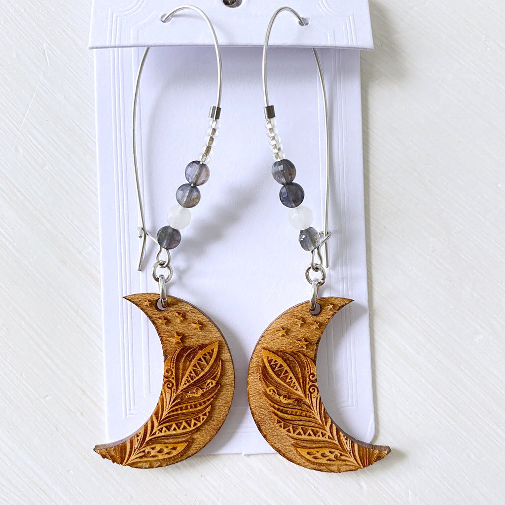 Earthly Moon Earrings