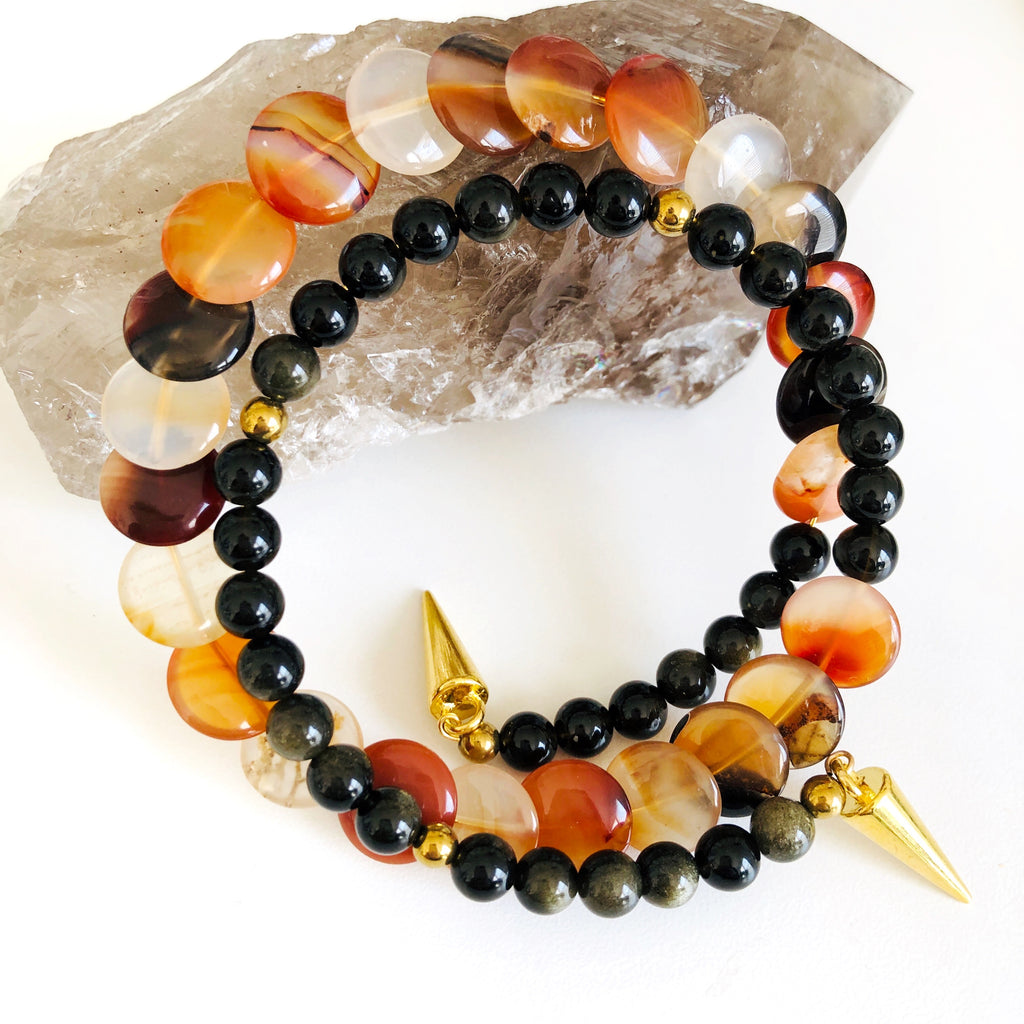 Sunset Vixen Double Wrap Bracelet