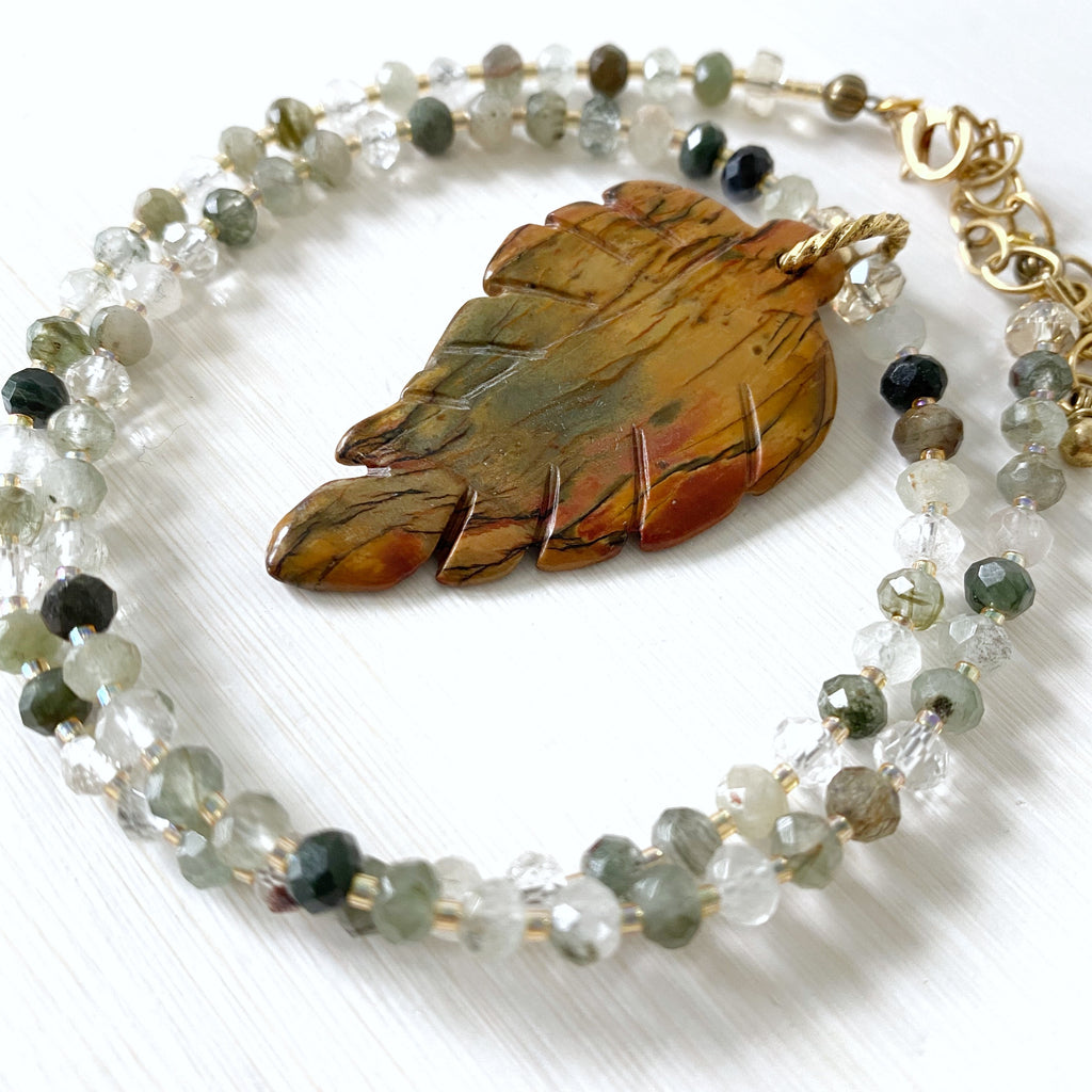 Seeking Life's Purpose - Green Rutilated Quartz Necklace