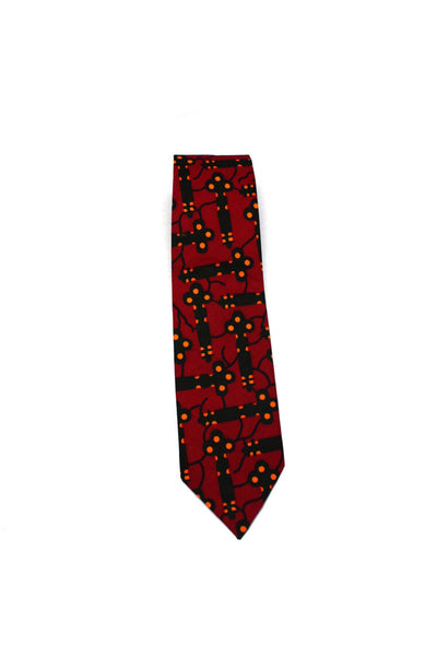 Neck Tie - African Pattern - Red Religion