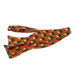 Self-tie bow tie - Orange Moon