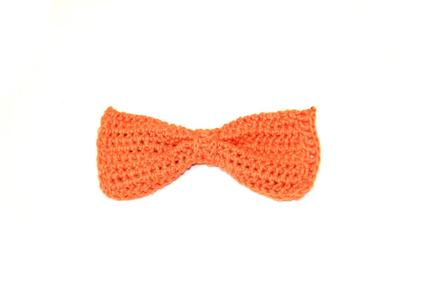 Bow Tie - Crocheted - Orange