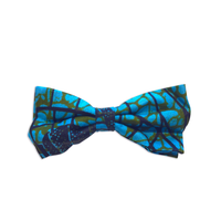 Self-Tied Bow Ties - Blue Marine