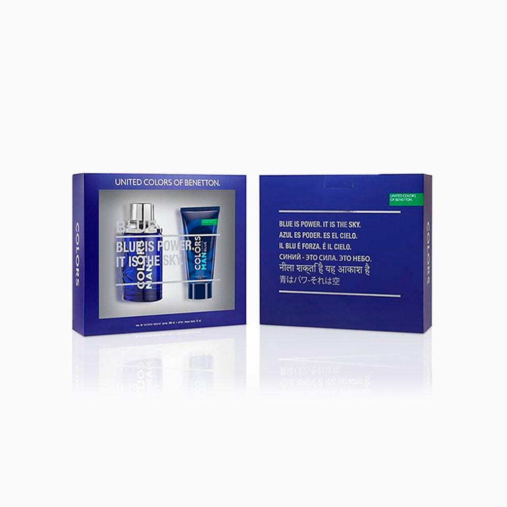 Benetton Benetton Colors Man Blue Set EDT 100 ML + After Shave 75 ML (H)