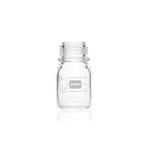 REAGENT BOTTLE DURAN SAFECOATED W/MOUTH NO CAP OR RING 1L