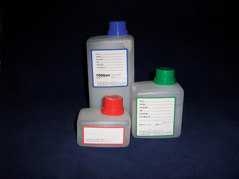 WATER SAMPLING BOTTLES STERILE PP 500ML UNDOSED PK. 84