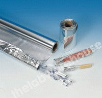 ALUMINIUM FOIL ROLL 75 METRES LONG x 100MM WIDE 18uM THICK