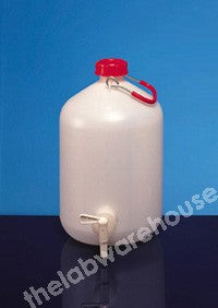 ASPIRATOR PE SCREW CAP HANDLE AND STOPCOCK 5L