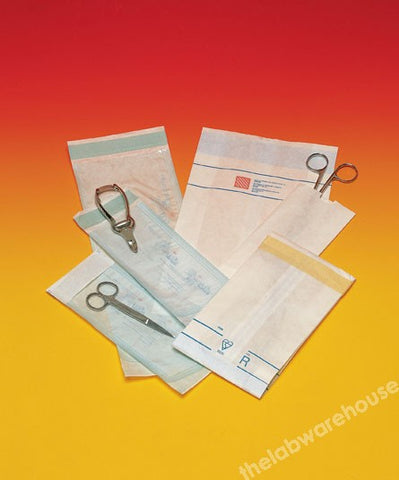 STERILISING BAGS PAPER HEAT SEAL CLOSURE 90X170MM PK 1000
