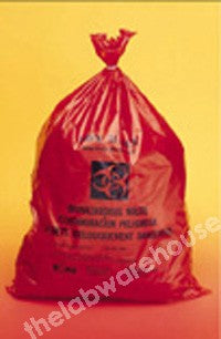 DISPOSAL BAGS NON STER. PE BIOHAZARD 460X660MM PK 100