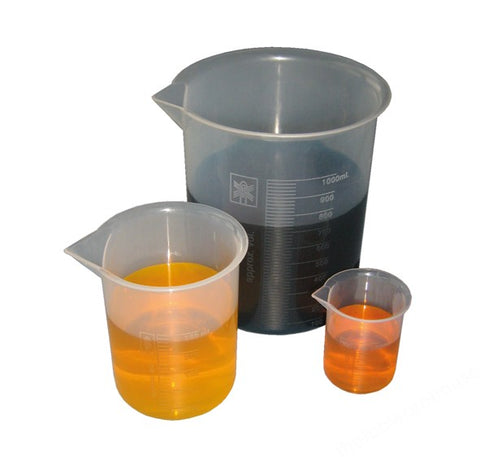 BEAKER PP LOW FORM MOULDED GRAD'S AND SPOUT 50ML
